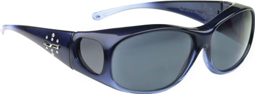 Jonathan Paul® Fitovers Eyewear Medium Element in Sapphire & Gray EM005S