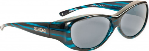 Jonathan Paul® Fitovers Eyewear Medium Kiata in Teal-Stripe & Gray KA002