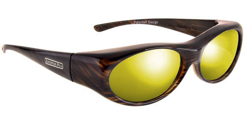 Jonathan Paul® Fitovers Eyewear Small Binya in Brown-Feather & Gold Mirror BN003YM
