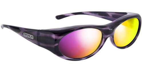 Jonathan Paul® Fitovers Eyewear Small Binya in Purple-Zebra & Purple Mirror BN002PM