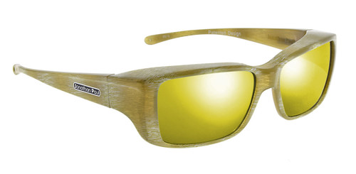 Jonathan Paul® Fitovers Eyewear Small Nowie in Ivory-Tusk & Gold Mirror NW003YM