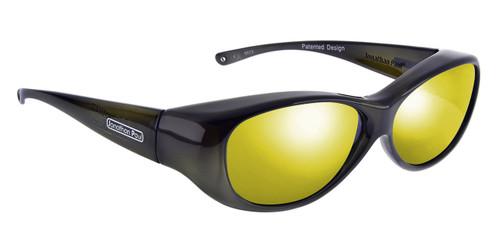 Jonathan Paul® Fitovers Eyewear Medium Kiata in Olive-Charcoal & Gold Mirror KA003YM