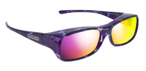 Jonathan Paul® Fitovers Eyewear Large Mooya in Mother-Pearl & Purple Mirror MY001PM