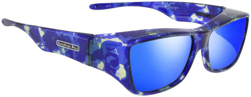 Jonathan Paul® Fitovers Eyewear Large Neera in Blue-Blast & Blue Mirror NR002BM