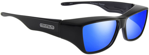 Jonathan Paul® Fitovers Eyewear Large Neera in Midnite Oil & Blue Mirror NR001BM