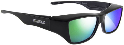 Jonathan Paul® Fitovers Eyewear Large Neera in Midnite Oil & Green Mirror NR001GM