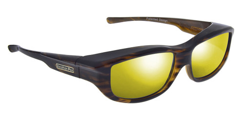 Jonathan Paul® Fitovers Eyewear Large Torana in Amber-Sky & Gold Mirror TR003YM