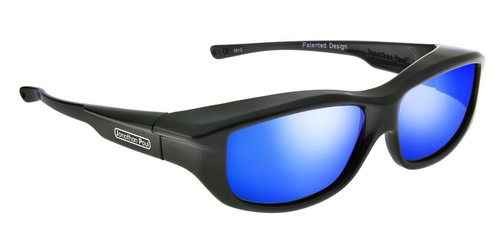 Jonathan Paul® Fitovers Eyewear Large Torana in Dark-Charcoal & Blue Mirror TR002BM