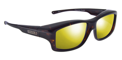 Jonathan Paul® Fitovers Eyewear X-Large Yamba in Dark-Tortoise & Gold Mirror YM003YM