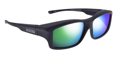 Jonathan Paul® Fitovers Eyewear X-Large Yamba in Satin-Black & Green Mirror YM001GM