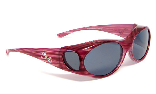 Jonathan Paul® Fitovers Eyewear Small Aurora in Red Licorice & Gray AR009S