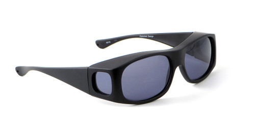 Jonathan Paul® Fitovers Eyewear Large Classic Series in Satin-Black & Gray Fl013