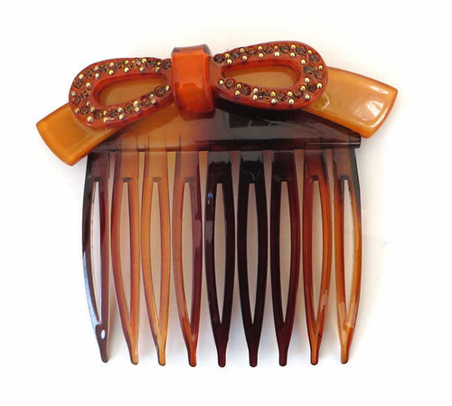 Speert Handmade European Side Comb Style #1241 Bow 2 Inches