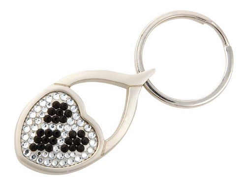 Speert Heart Shaped Crystal Key Chain