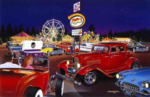 Classic Cars 240-87-4 Artwork Micro Fiber Cleaning Cloth