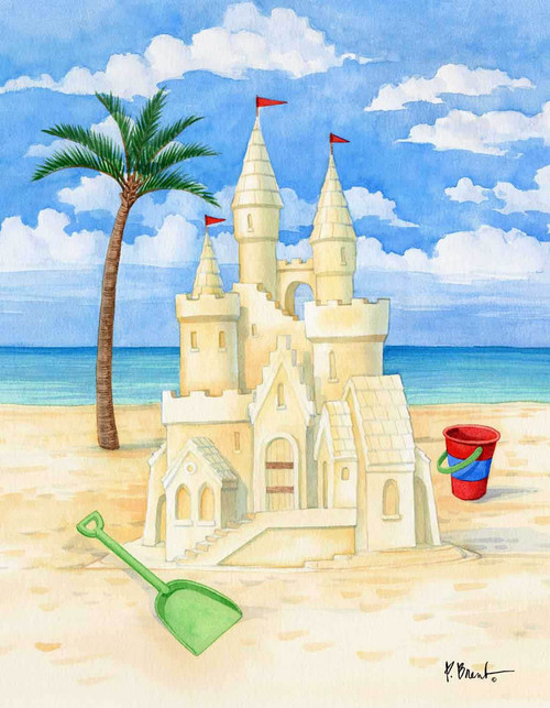 Beach Sand Castle 240-10d-3 Artwork Micro Fiber Cleaning Cloth