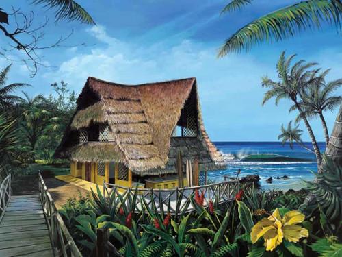 Hawaiian Hideaway Beach House 240-75b-1 Artwork Micro Fiber Cleaning Cloth