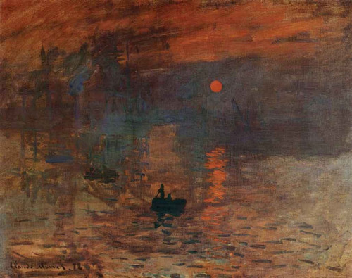 Famous Artwork Theme Cleaning Cloth 'Sunrise' by Monet