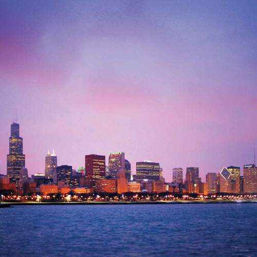 Landscapes Theme Chicago 240-17-3 Artwork Micro Fiber Cleaning Cloth