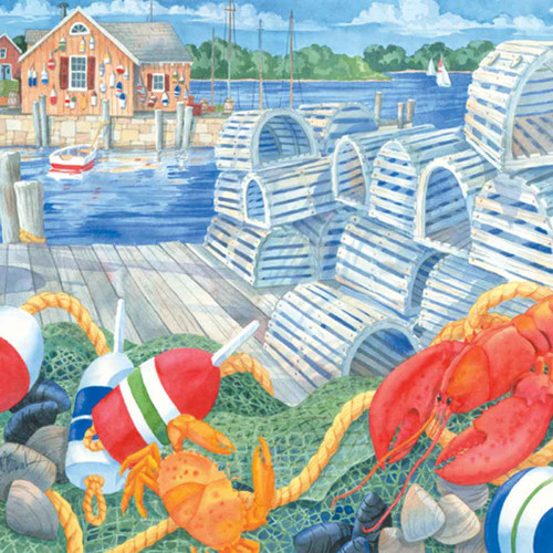 Lobster Dock 240-10a-3 Artwork Micro Fiber Cleaning Cloth