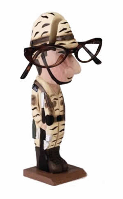 Army Guy Peeper Eyeglass Holder Stand
