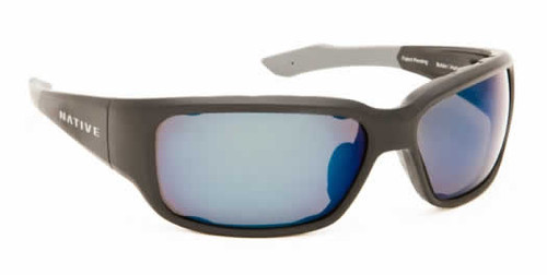 9ce822cf6e Native Eyewear Polarized Sunglasses Bolder in Asphalt   Blue Reflex