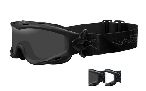 Wiley X Spear Tactical Rx Safety Goggles in Black with Smoke & Clear Lens