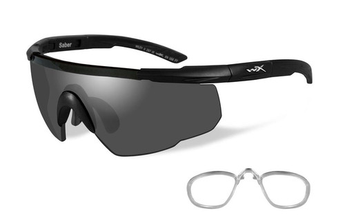 46d18ff233a Wiley X Rx Saber Advanced Safety Sunglasses in Matte Black with Smoke Lens