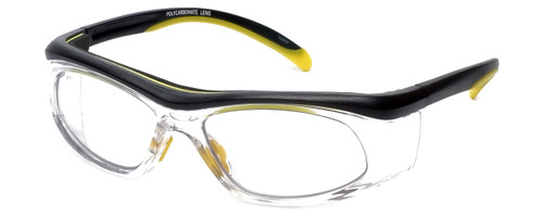 Global Vision Eyewear Full Lens RX Safety Series RX-A in Black-Yellow