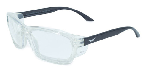 Global Vision Eyewear Full Lens RX Safety Series RX-I in Black-Clear