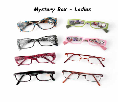 10 Pack Mystery Box Reading Glassses, Ladies Styles