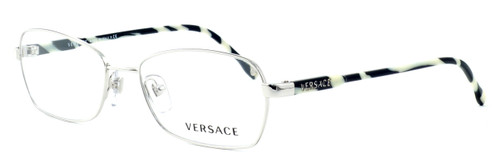 Versace 1192-1000 Designer Reading Glasses in Silver