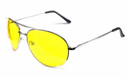 Calabria Fashion Sunglasses 1121 in Silver & Yellow