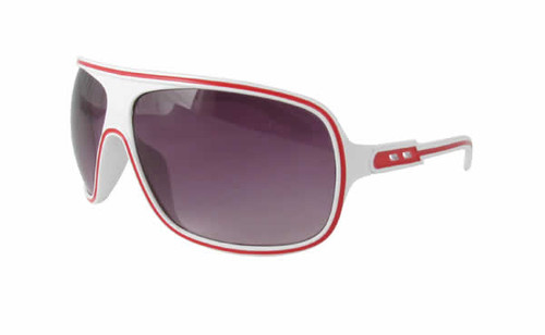 Calabria Fashion Sunglasses Speed Racer in White