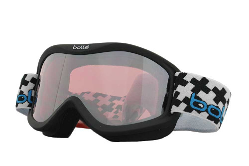 Bollé Ski Goggles: Volt Plus in Matt-Black Cross with Vermillion Gun Lens Youth Size