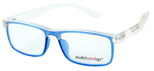Crystal Clear Frame with Blue Chassis