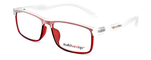 Matte Clear Frame with Shiny Red Chassis