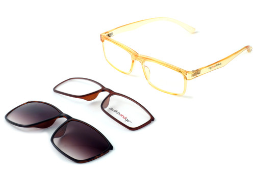 Switch and Go Switchable Eyewear 018-C9 in Crystal Champagne
