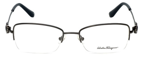 Salvatore Ferragamo Designer Eyeglasses SF2132R-015 in Shiny-Gunmetal 52mm :: Custom Left & Right Lens