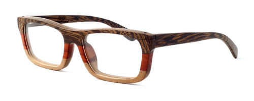 """Specs of Wood Designer Wooden Eyewear Made in the USA """"Serious III"""" in Red Rosewood (Red)"""