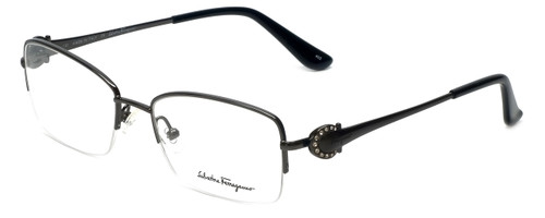 Salvatore Ferragamo Designer Reading Glasses SF2132R-015 in Shiny-Gunmetal 52mm