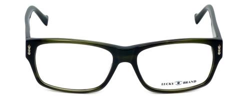 Lucky Brand Designer Eyeglasses Cliff in Olive-Horn 54mm :: Custom Left & Right Lens