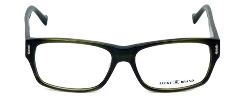 Lucky Brand Designer Eyeglasses Cliff in Olive-Horn 54mm :: Progressive