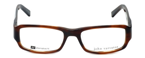 John Varvatos Designer Reading Glasses V341AF in Brown-Horn 53mm