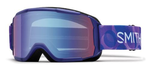Smith Optics Snow Goggles Daredevil JR in Ultraviolet Dollop with Blue Sensor Mirror Lens