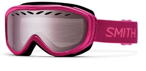 Smith Optics Snow Goggles Transit Airflow Series in Fuchsia Static with Ignitor Mirror Lens