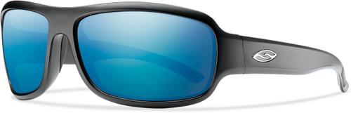 Smith Optics DROP ELITE in MATTE BLACK & POLARIZED BLUE MIRROR Lens