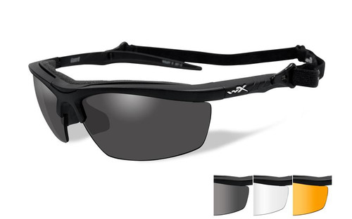 Wiley X Guard Safety Glass in Matte Black Grey/Clear/Rust Lenses
