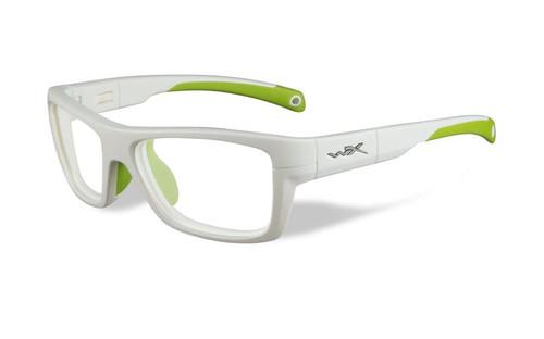 Wiley-X Designer Eyeglasses WX Crush Youth Force in White & Green / Glow 52mm :: Custom Left & Right Lens