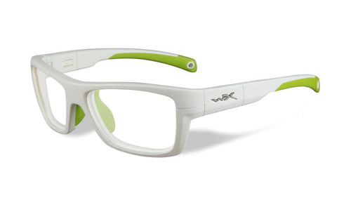 Wiley-X Designer Eyeglasses WX Crush Youth Force in White & Green / Glow 52mm :: Rx Single Vision